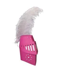 Me encanta este casco. Para las amantes del rosa que también se sienten caballeros. ;)